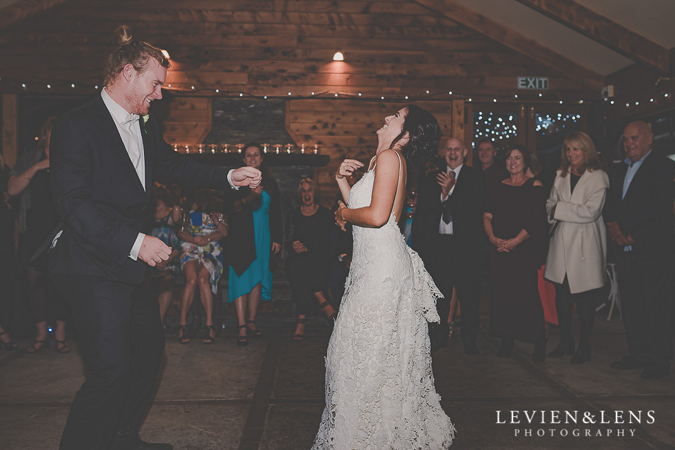 bride and groom first dance St Margarets Cafe - Karaka {Auckland lifestyle wedding photographer}