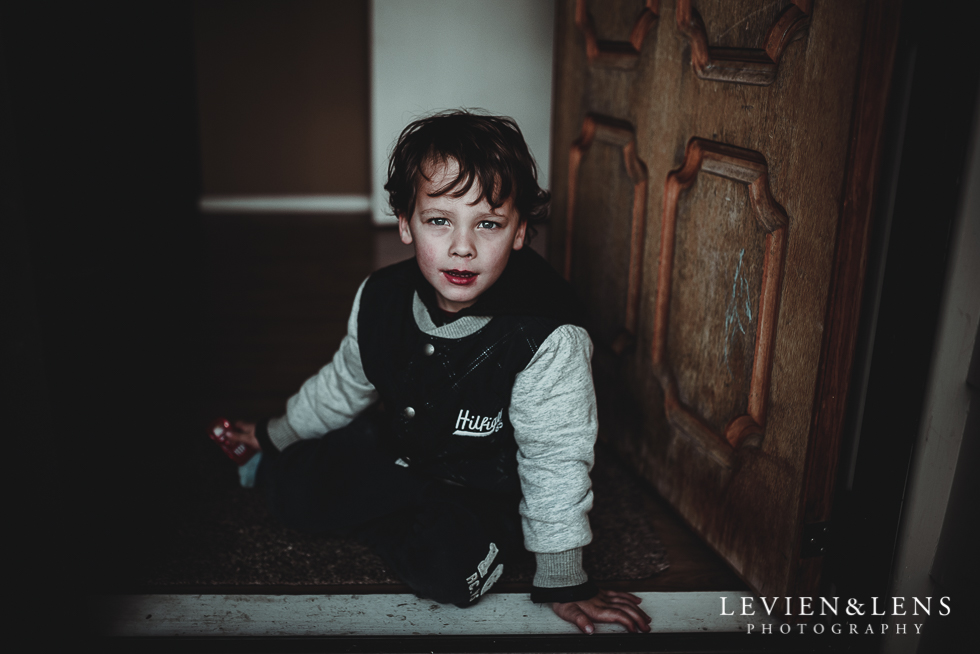 boy at door frame - My 365 Project - July 2016 {Hamilton lifestyle wedding photographer}