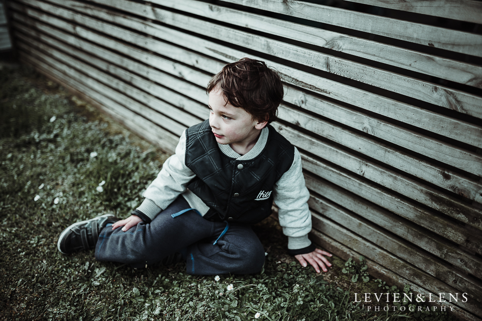 boy sitting on the grass - My 365 Project - July 2016 {Hamilton lifestyle wedding photographer}