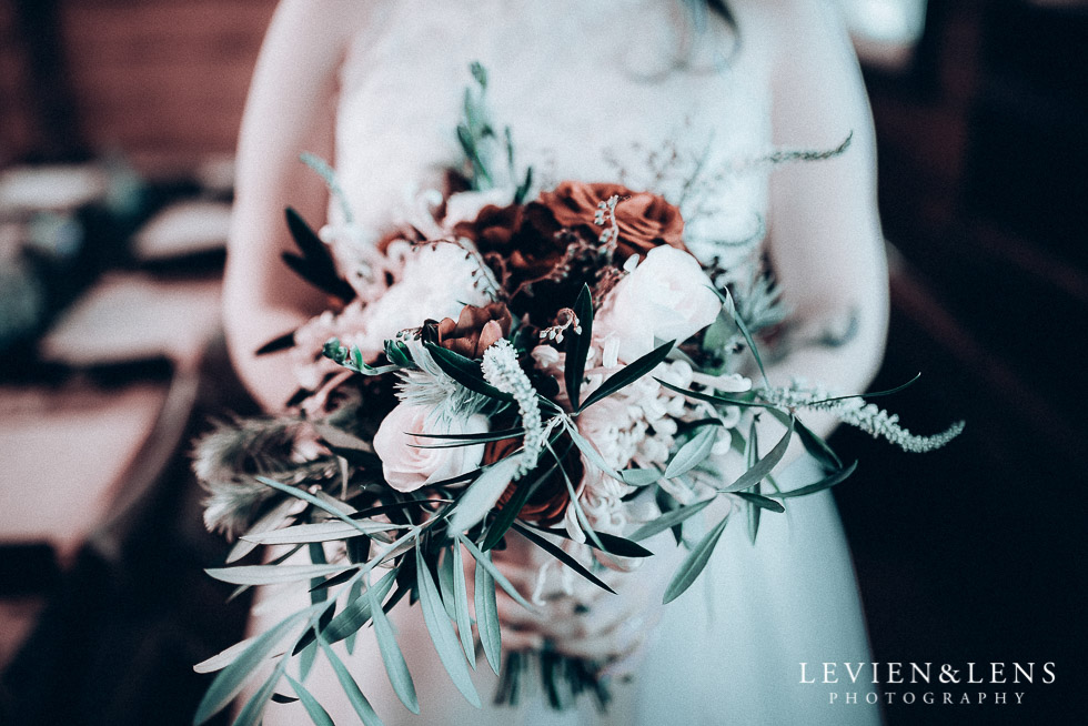 bride holding bouquet - Highwic historic house-museum winter wedding {Auckland NZ lifestyle weddings photographer}