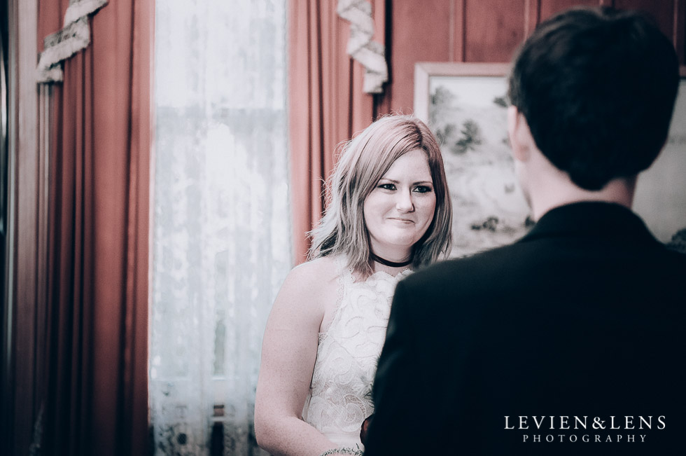 bride ceremony - Highwic historic house-museum winter wedding {Auckland NZ lifestyle weddings photographer}