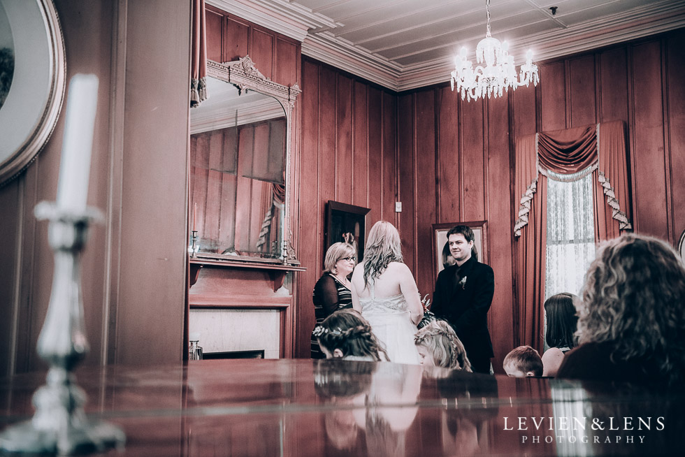 ceremony - Highwic historic house-museum winter wedding {Auckland NZ lifestyle weddings photographer}