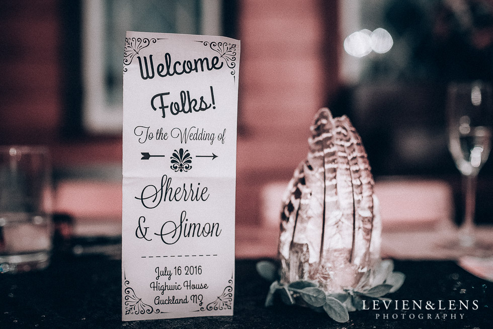 reception details - Highwic historic house-museum winter wedding {Auckland NZ lifestyle weddings photographer}