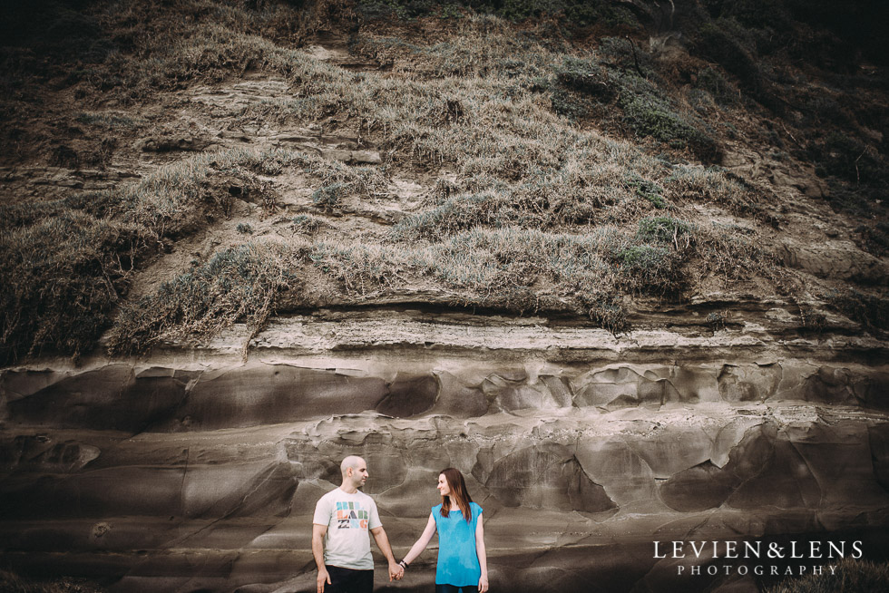 hills texture - Muriwai Beach couples-engagement photo shoot {Auckland wedding photographer}