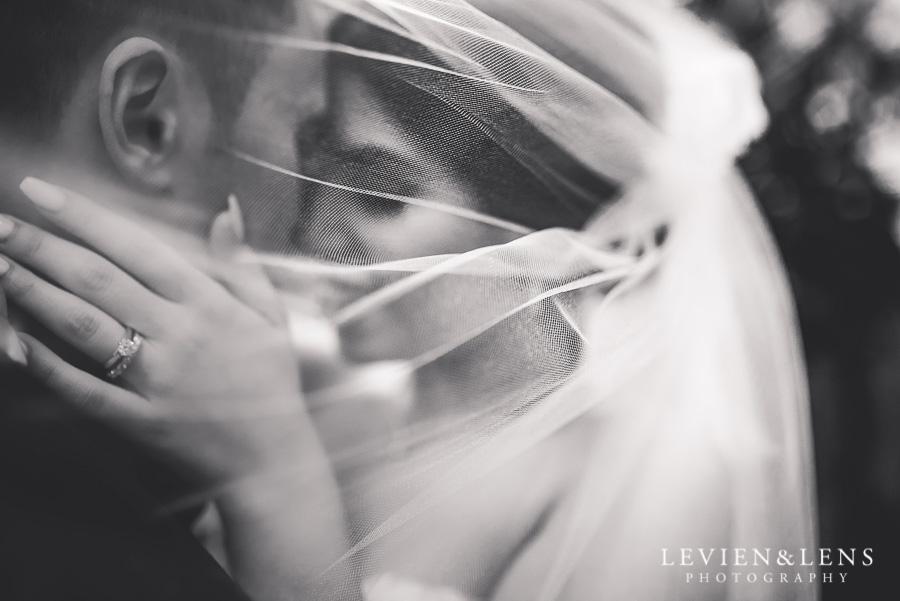 under veil - bride and groom intimate session outside - Langham Hotel Wedding {Auckland-NZ wedding photographer}
