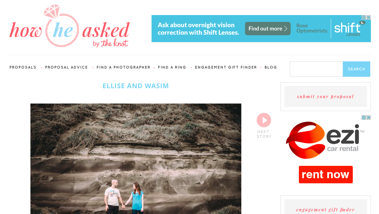 How he asked by the knot - engagement photos publication {Auckland wedding photographer}