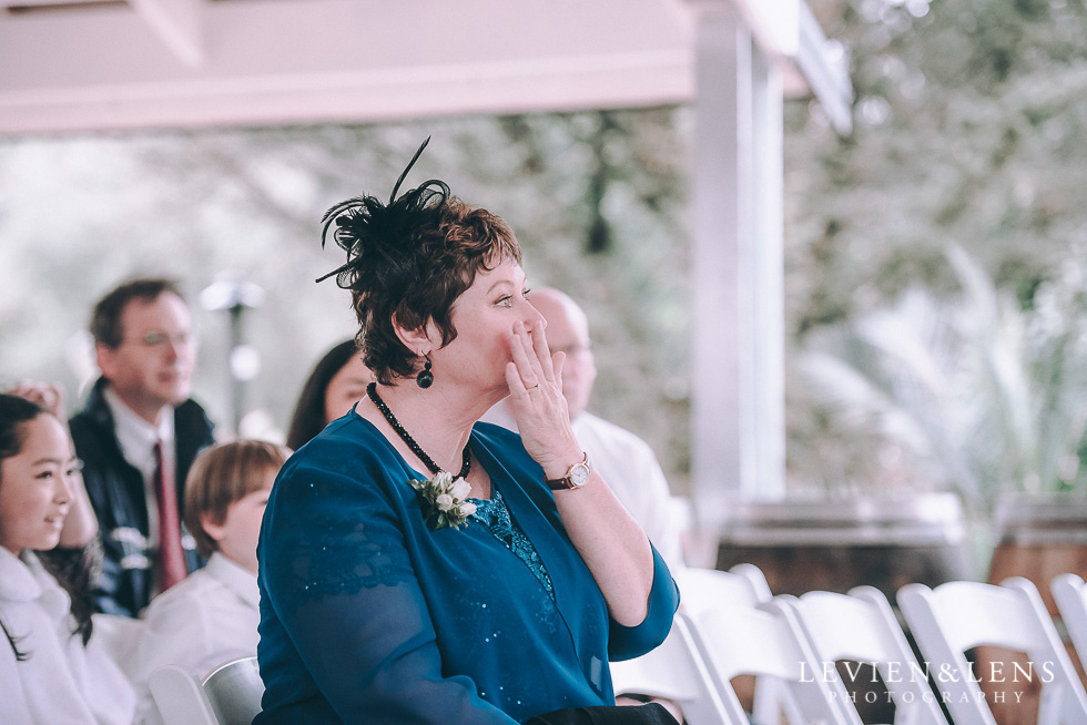ceremony - mother crying - Markovina Vineyard Estate - Kumeu {Auckland wedding photographer}