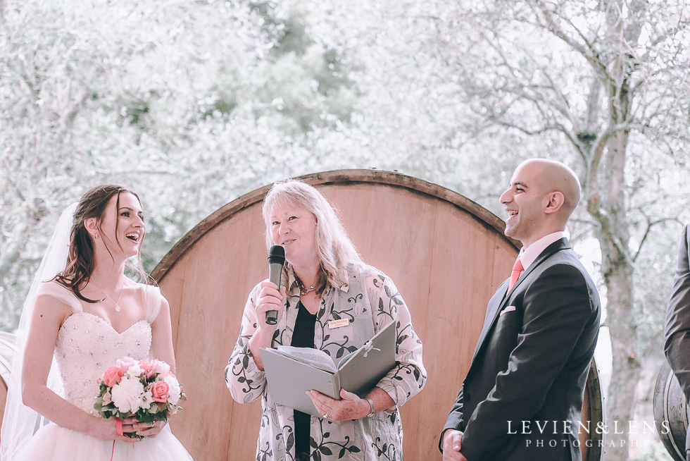 bride and groom ceremony - Markovina Vineyard Estate - Kumeu {Auckland NZ wedding photographer}