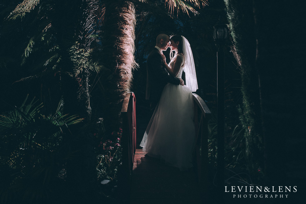 bride and groom night photography portraits - Markovina Vineyard Estate - Kumeu {Auckland wedding photographer}