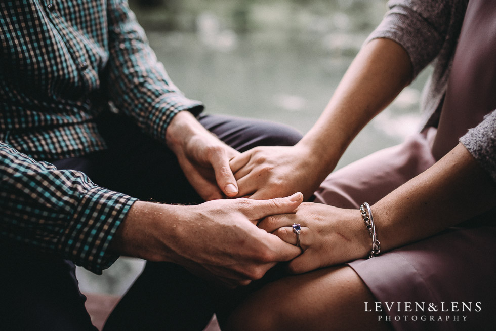 hands - Hamilton Gardens engagement photo shoot {New Zealand wedding - couple photographer}
