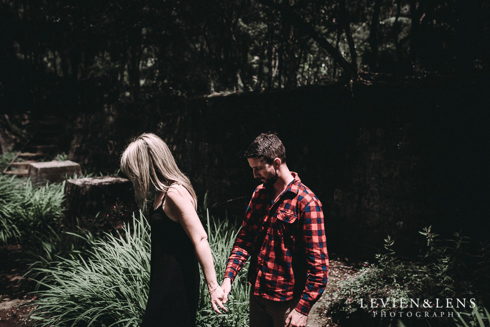 walking-holding hands - Karangahake George engagement | couples photo shoot {Auckland-Waikato wedding photographer}