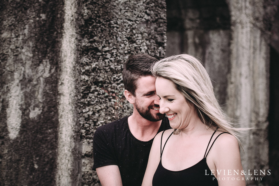 laughing - Karangahake George engagement | couples photo shoot {Auckland-Waikato wedding photographer}