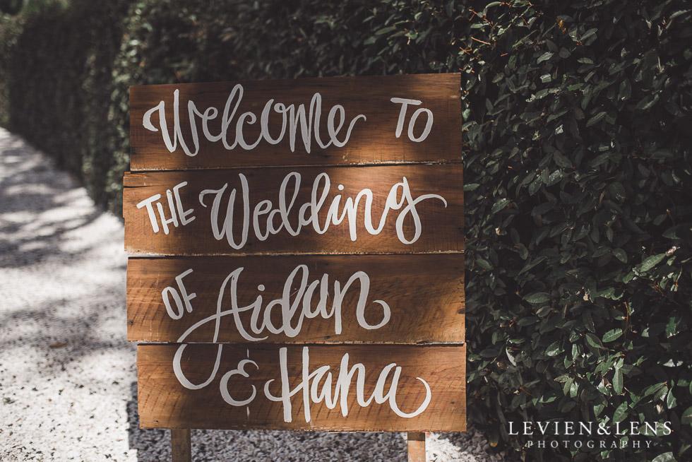 wedding ceremony sign - The Duke of Marlborough Hotel - Russel wedding {Northland-New Zealand weddings photographer}