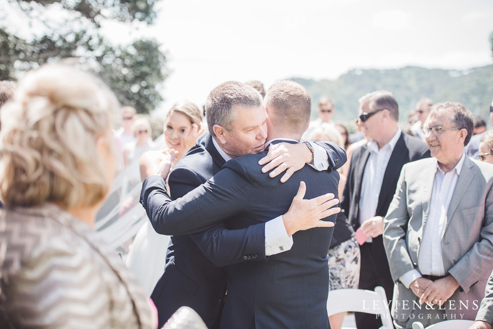 groom with father of bride - Pompallier Garden ceremony - The Duke of Marlborough Hotel - Russel wedding {Northland-New Zealand weddings photographer}