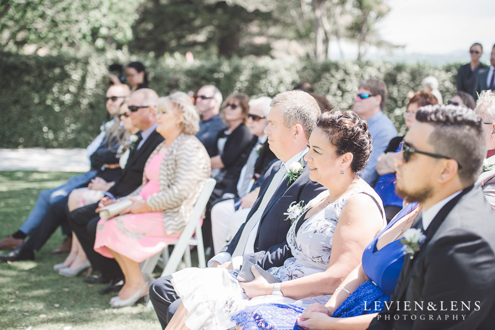 guests at ceremony - The Duke of Marlborough Hotel - Russel wedding {Northland-New Zealand weddings photographer} Pompallier garden