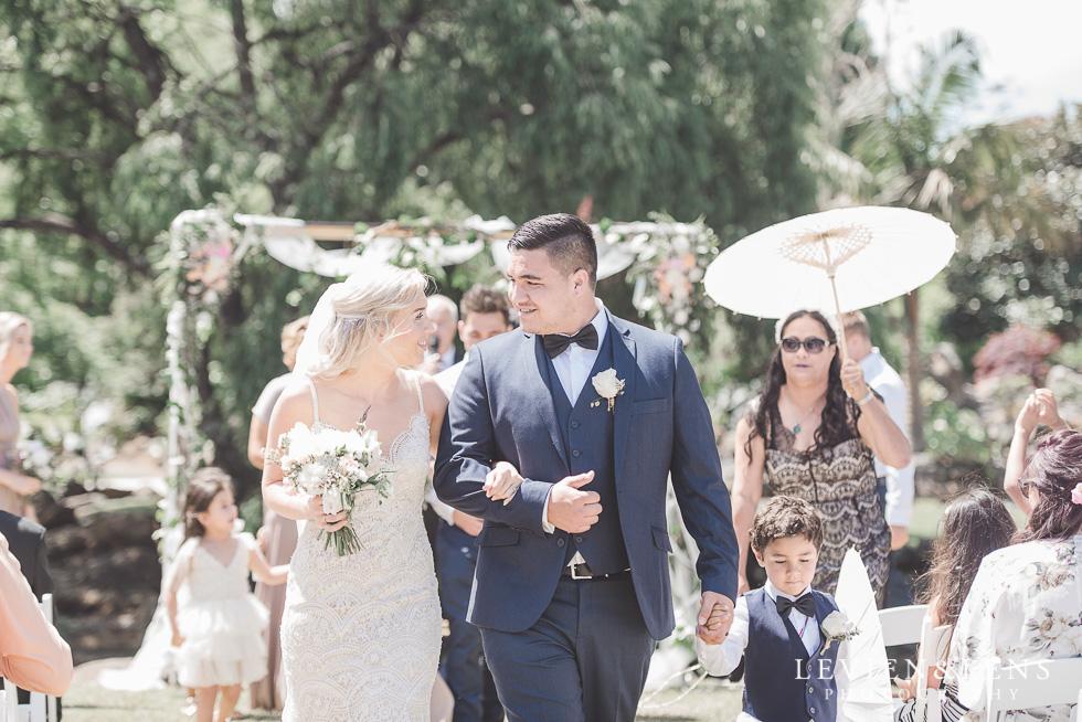 bride and groom at ceremony - Liddington Gardens - Kerkeri Northland {NZ destination wedding photographer}