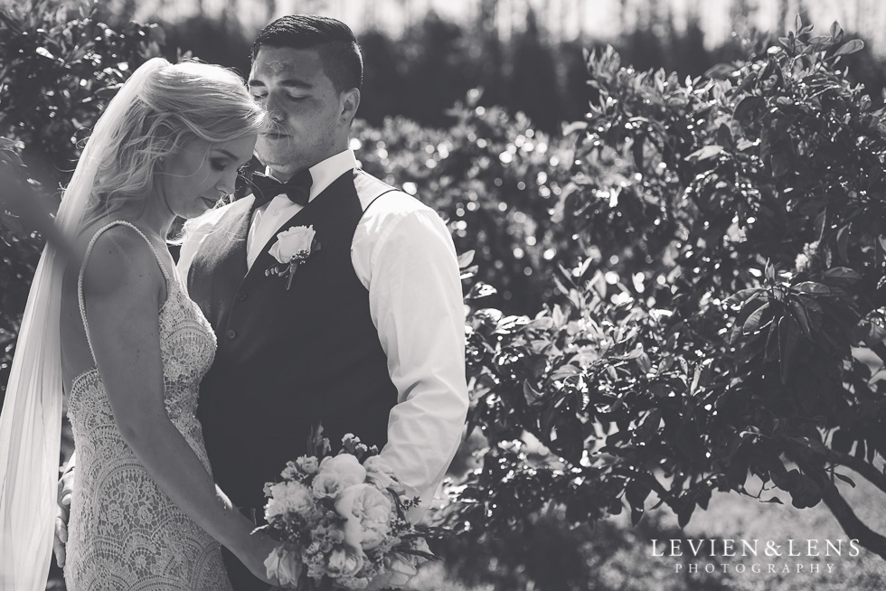 bride and groom - Liddington Gardens - Kerkeri Northland {NZ destination wedding photographer}