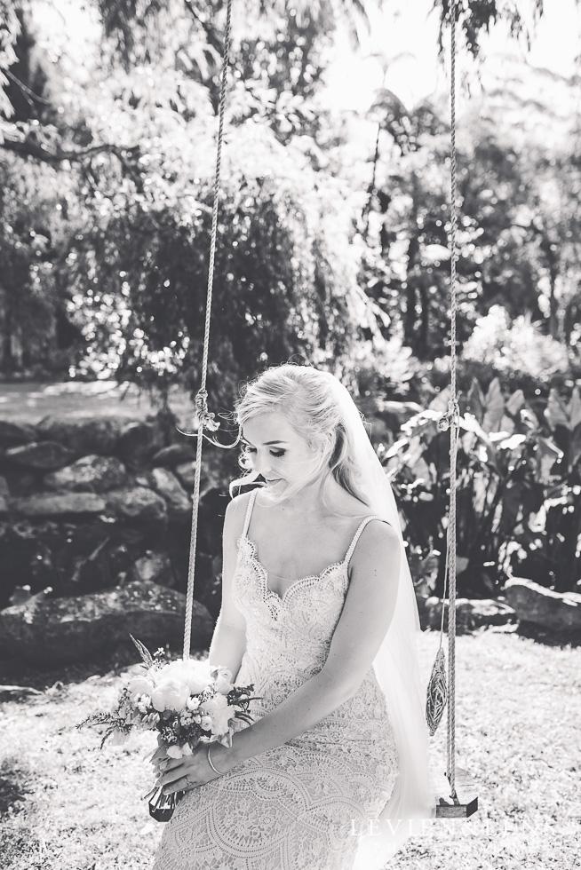 bride on swing {bridal portraiture - Auckland wedding photographer} Liddington gardens}
