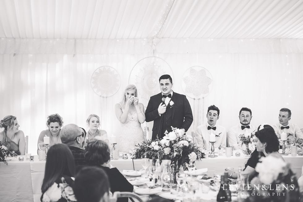 bride crying at reception - Liddington Gardens - Kerkeri Northland {NZ destination wedding photographer}