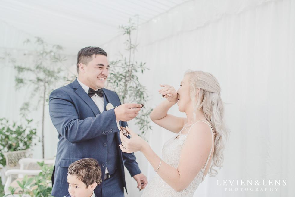 cake cutting - Liddington Gardens - Kerkeri Northland {NZ destination wedding photographer}
