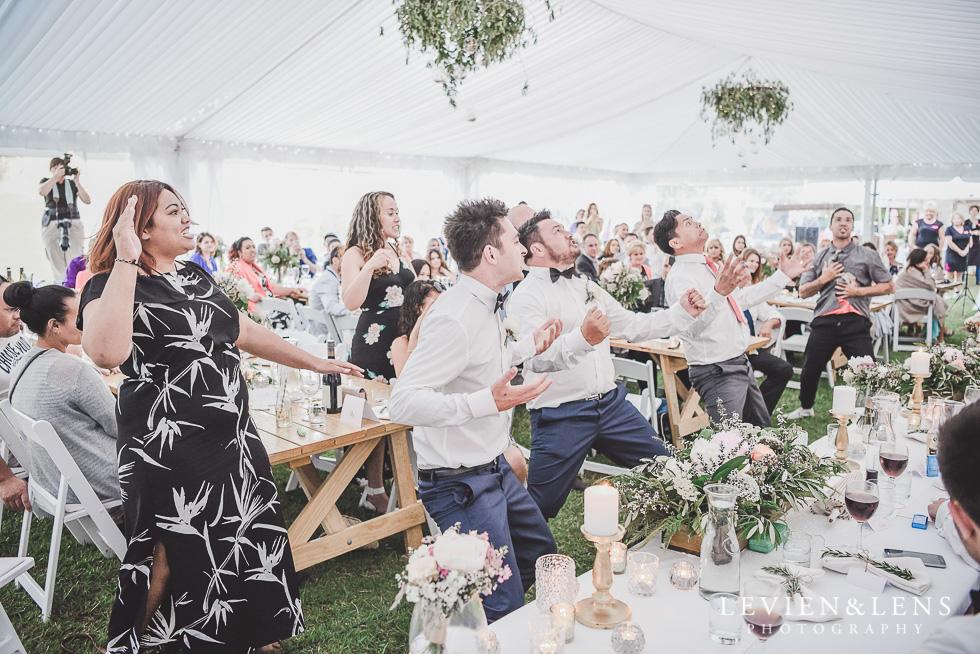 haka dance reception - Liddington Gardens - Kerkeri Northland {NZ destination wedding photographer}