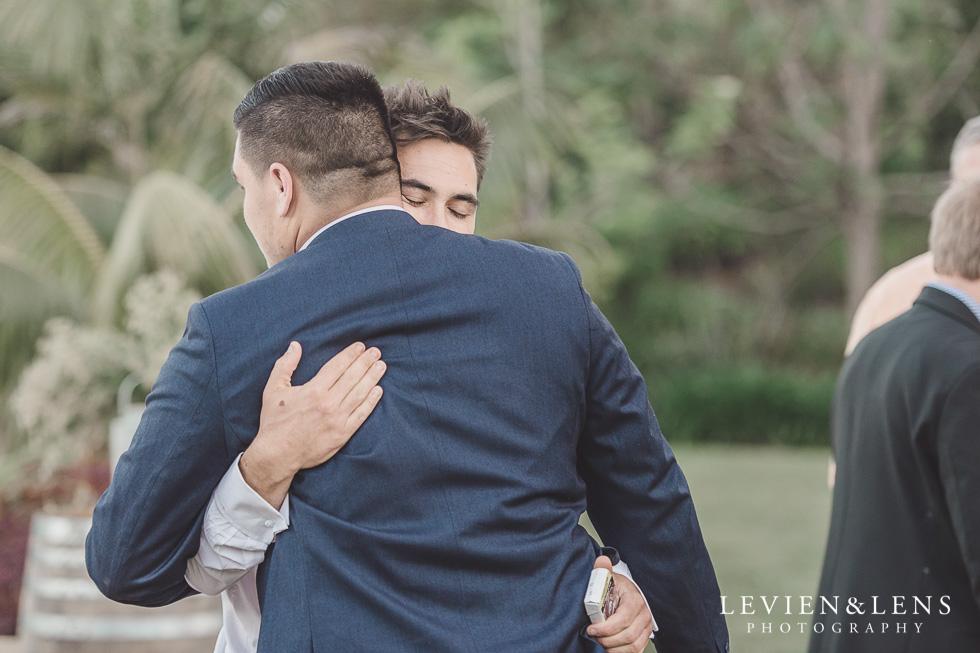 groom with groomsmen - Liddington Gardens - Kerkeri Northland {NZ destination wedding photographer}
