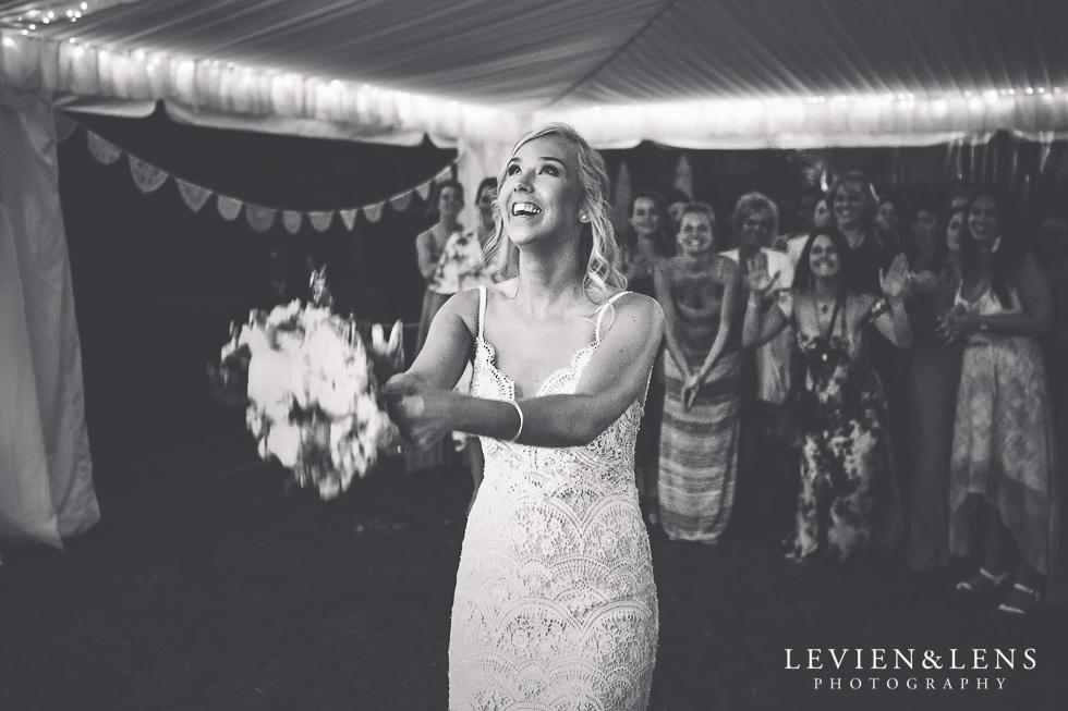 bouquet tossing - Liddington Gardens - Kerkeri Northland {NZ destination wedding photographer}