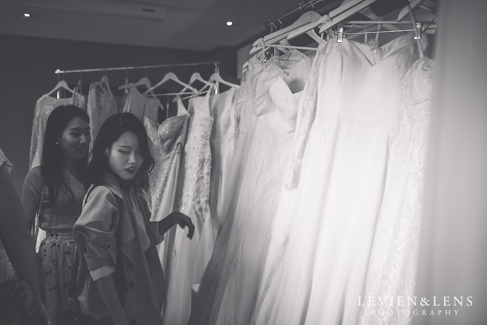 choosing wedding dresses - Trish Peng Christmas Bridal High Tea - Sofitel Viaduct Hotel {Auckland wedding photographer}