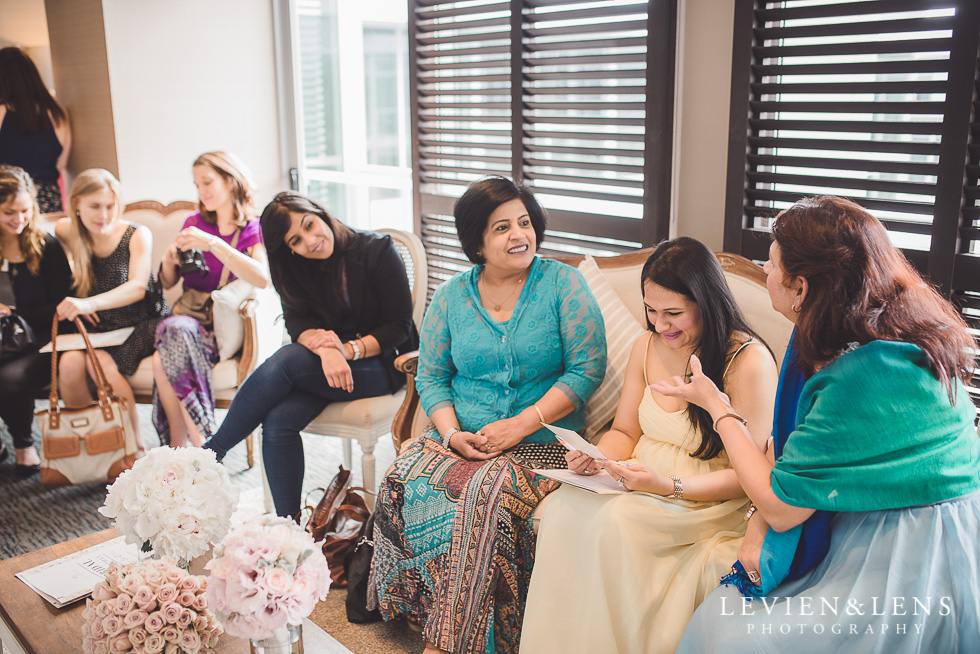 guests with bride - Trish Peng Christmas Bridal High Tea - Sofitel Viaduct Hotel {Auckland wedding photographer}