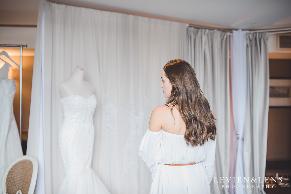 changing rooms - Trish Peng Christmas Bridal High Tea - Sofitel Viaduct Hotel {Auckland wedding photographer}