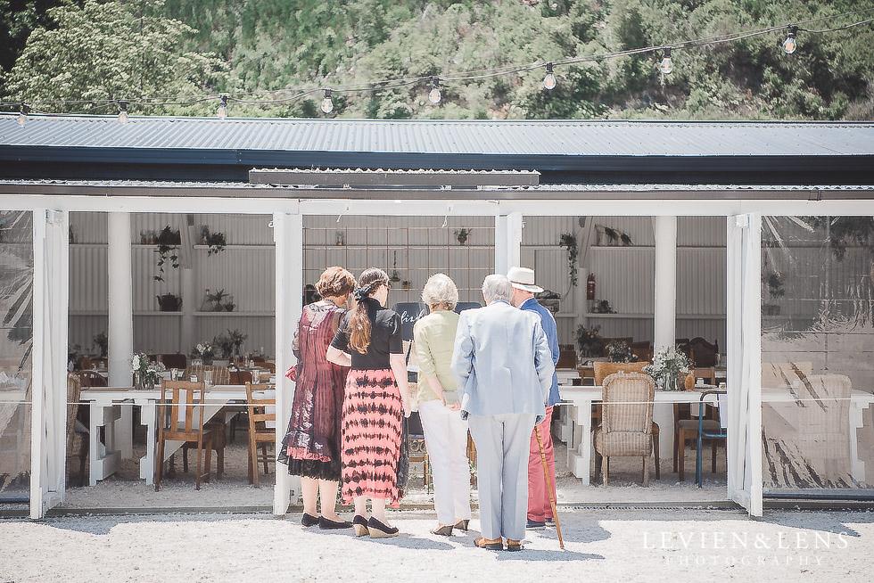guests near reception - Old Forest School Vintage Venue {Tauranga - Bay of Plenty wedding photographer}