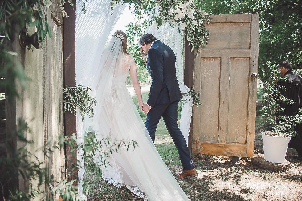 groom wiping tears ceremony - Old Forest School Vintage Venue {Tauranga - Bay of Plenty wedding photographer}