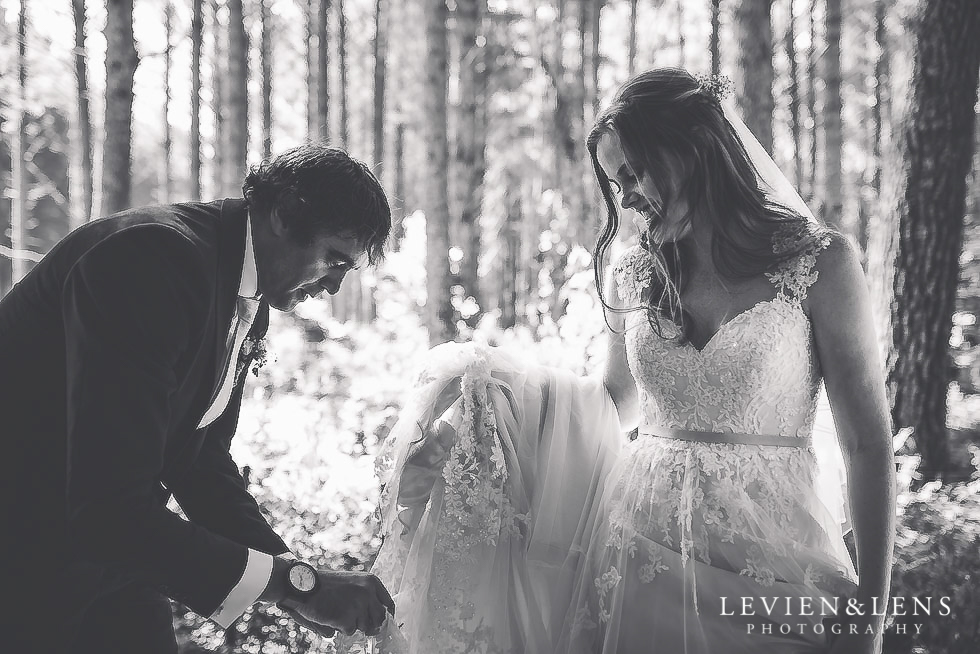 bride and groom candid moments - Old Forest School Vintage Venue {Tauranga - Bay of Plenty wedding photographer}