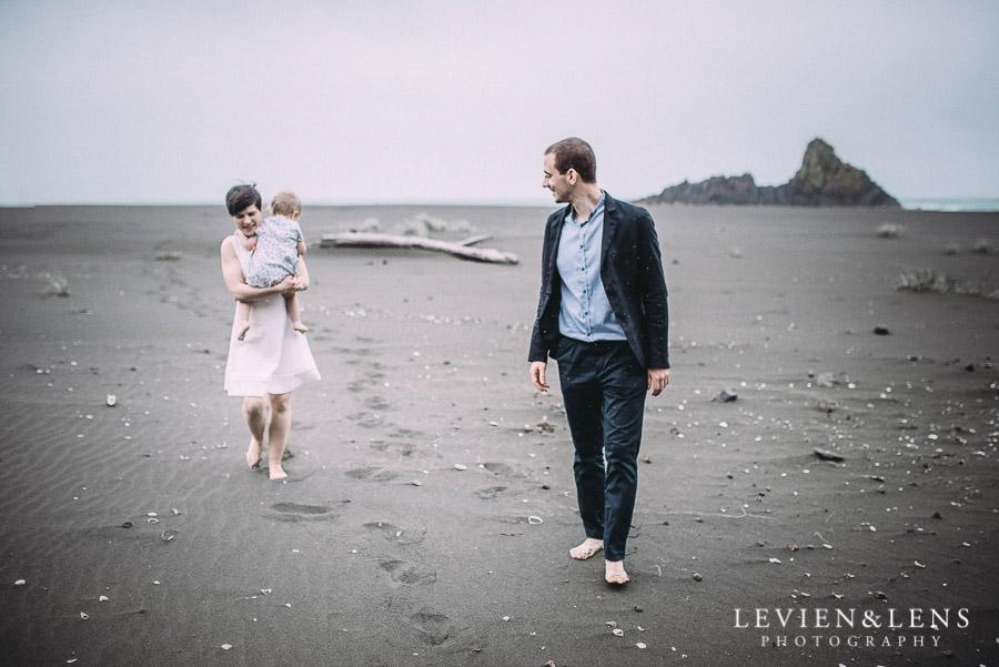 bride groom - Karekare Beach post-wedding | elopement photo shoot {Auckland NZ couples-weddings photographer}