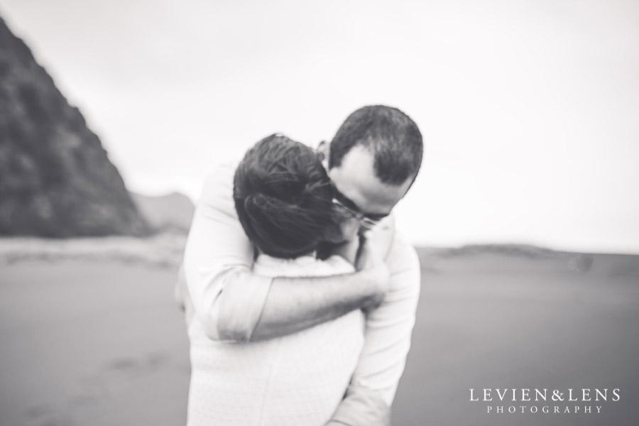 couple - Karekare Beach post-wedding | elopement photo shoot {Auckland NZ couples-weddings photographer}