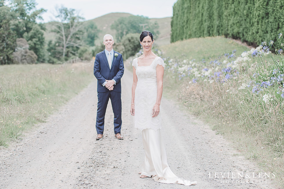 first look - bride and groom pre-ceremony photo shoot {Auckland NZ wedding photographers}