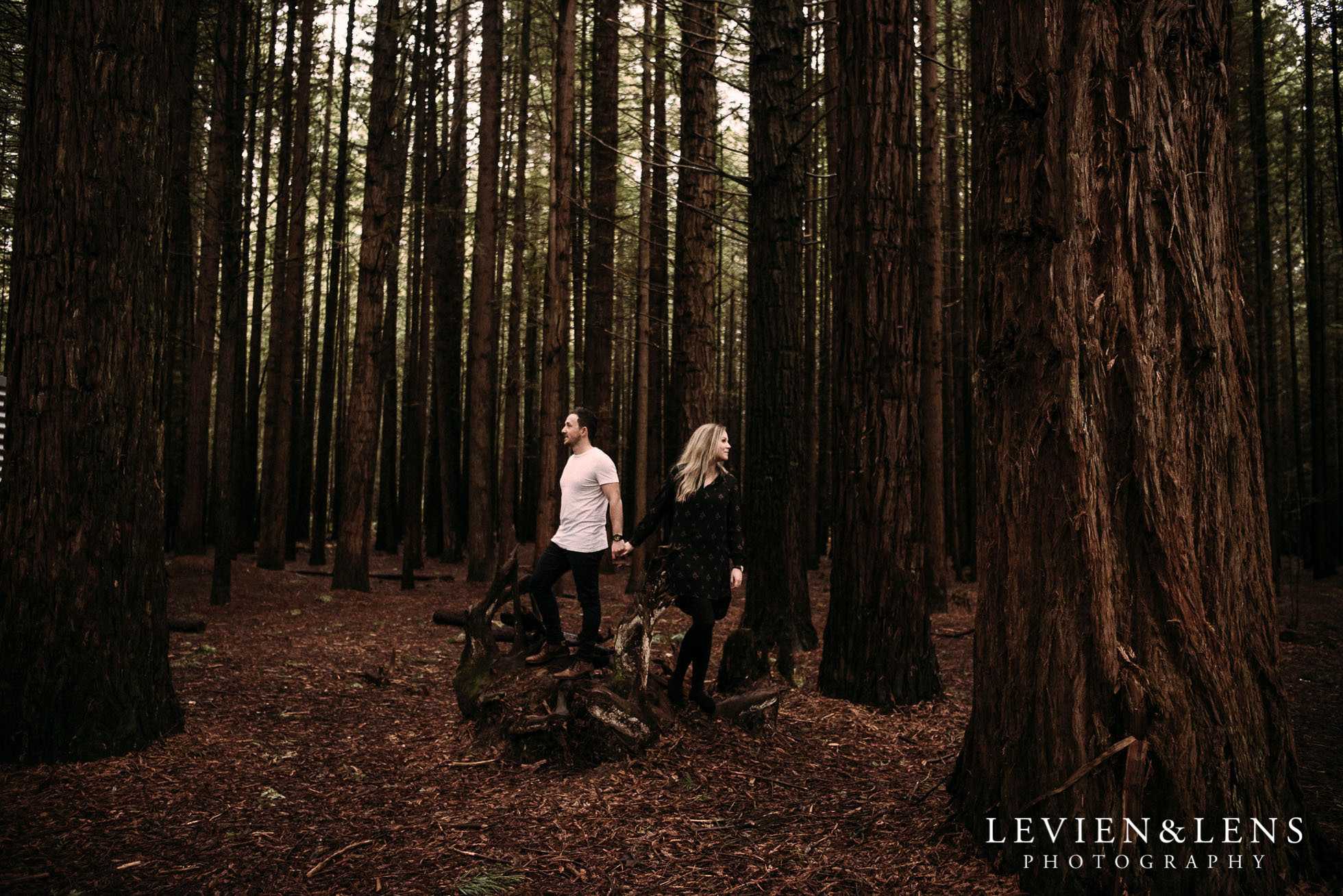 Redwood Forest - Lake Rotorua pre-wedding photo shoot {Bay of Plenty weddings photographers}