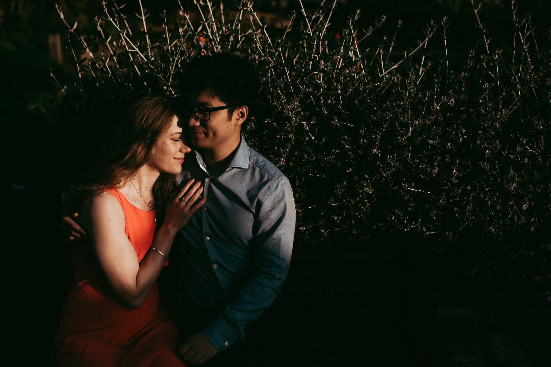 Auckland Botanic Gardens Engagement Session - Spring Cherry Blossom {Hamilton NZ wedding photographer}