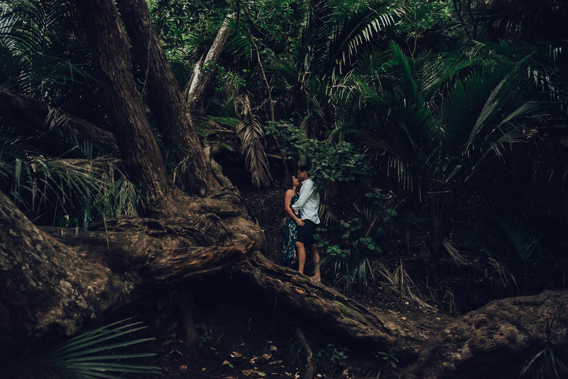 Karekare Falls pre-wedding photo shoot {wedding photographer in west Auckland}