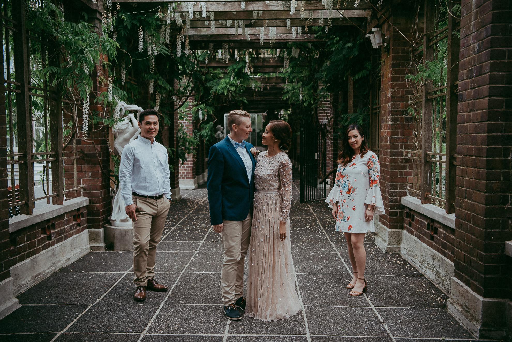 Auckland City WEDDING - Domain {New Zealand elopement-weddings photographers} Winter Gardens