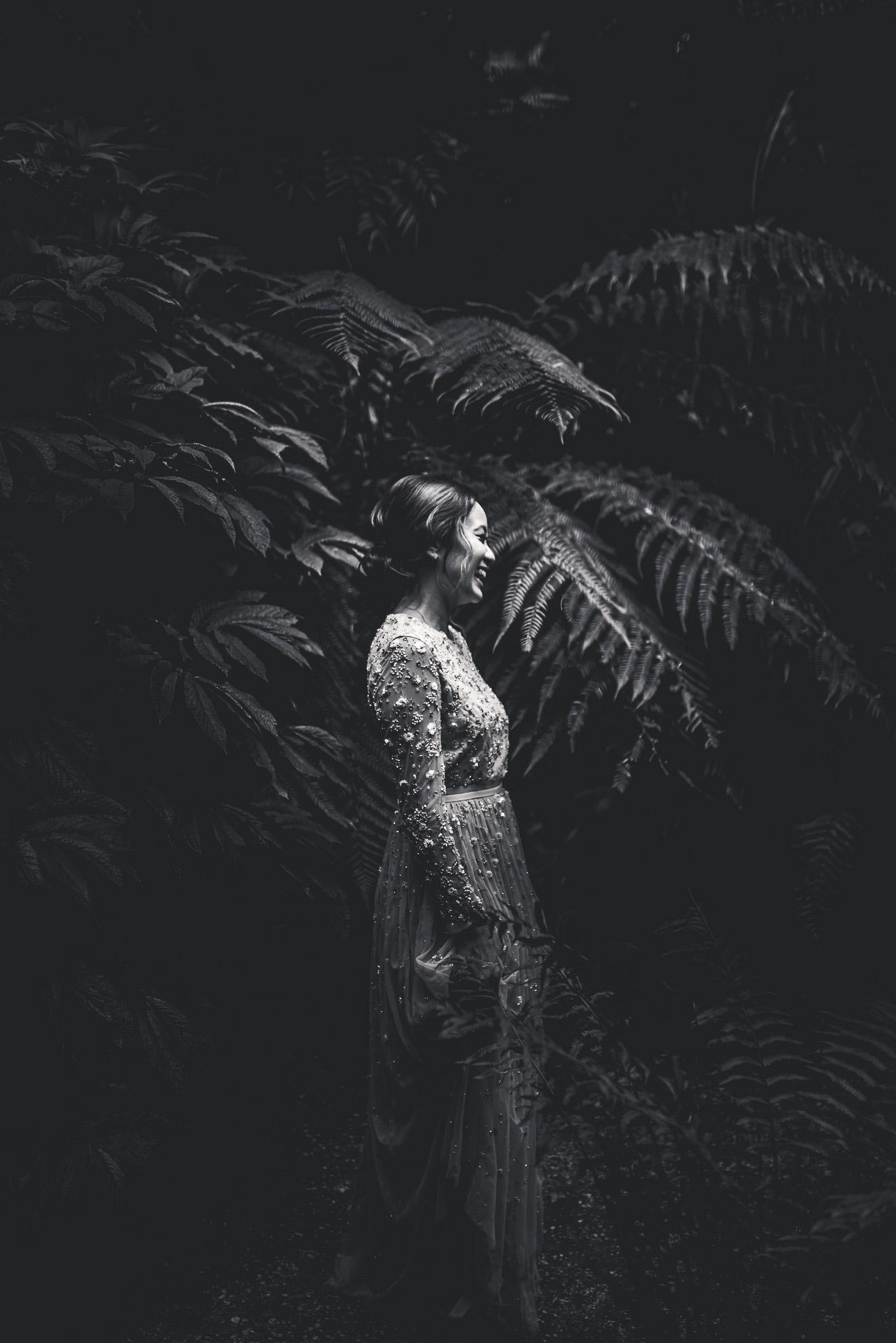 bride in Winter gardens {Auckland wedding photographers}