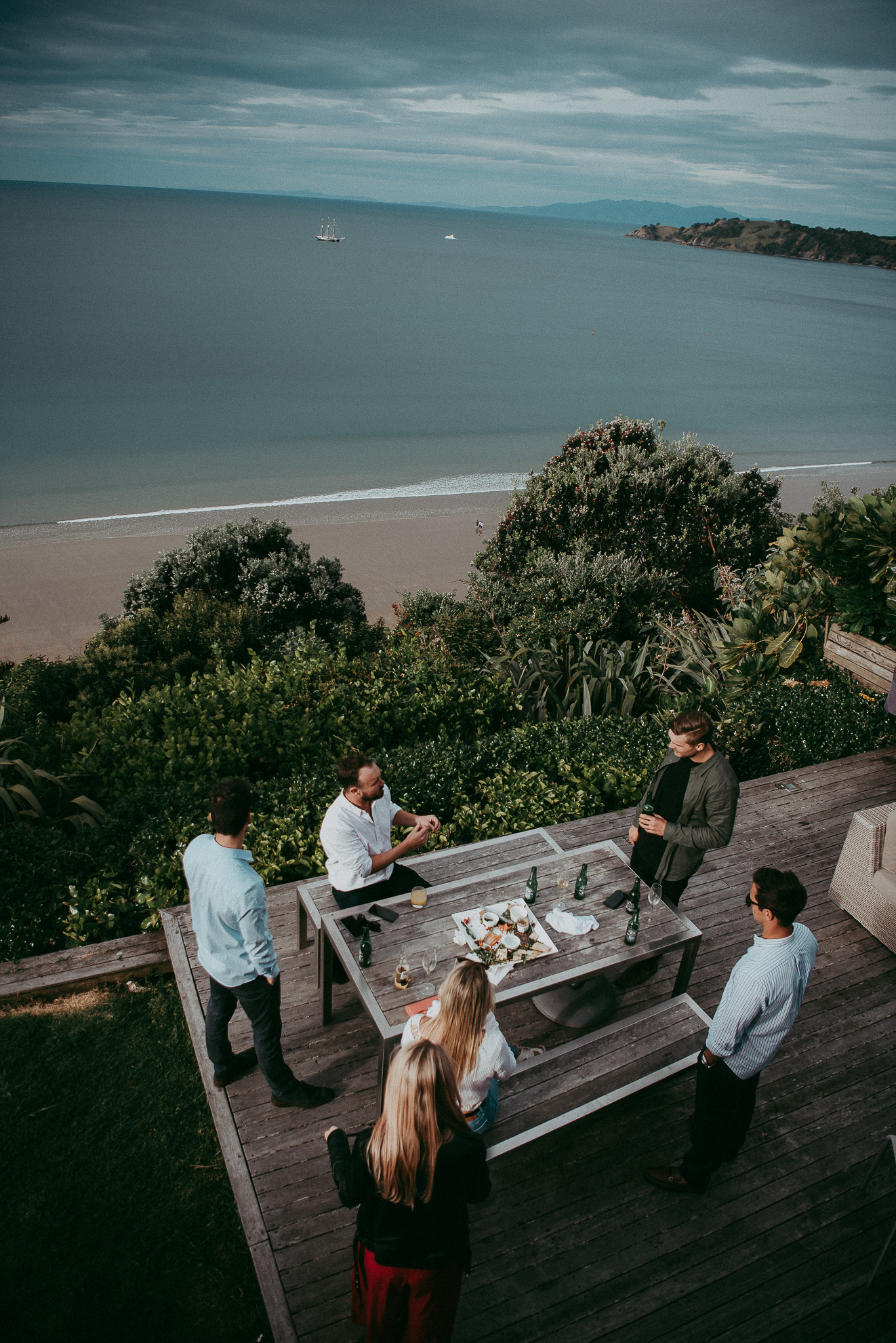 view to the ocean on Waiheke Island {Auckland wedding photographers}