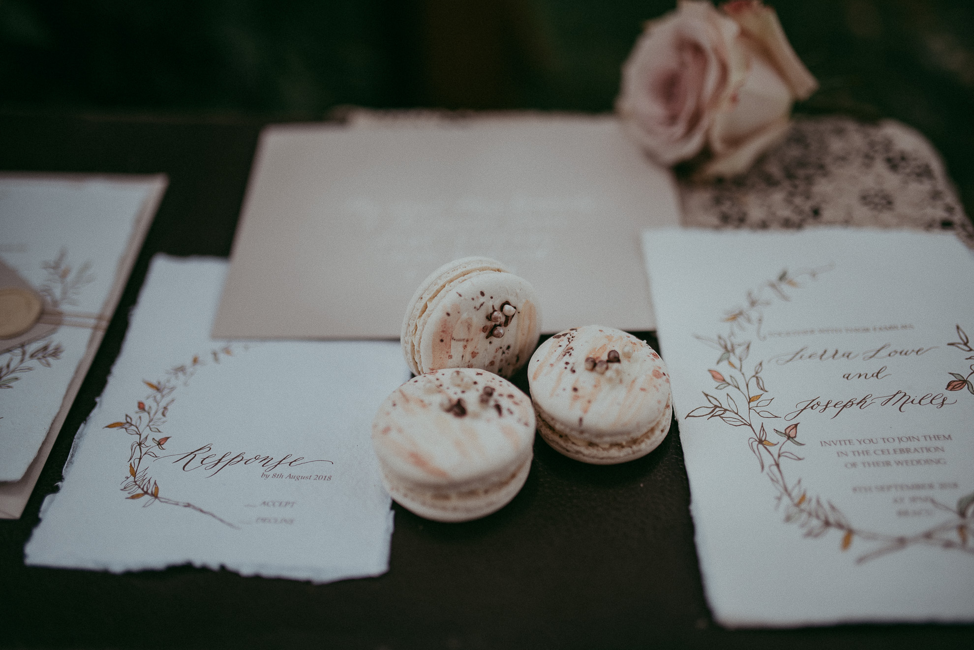 Wedding details - macaroons {Auckland wedding photographer}