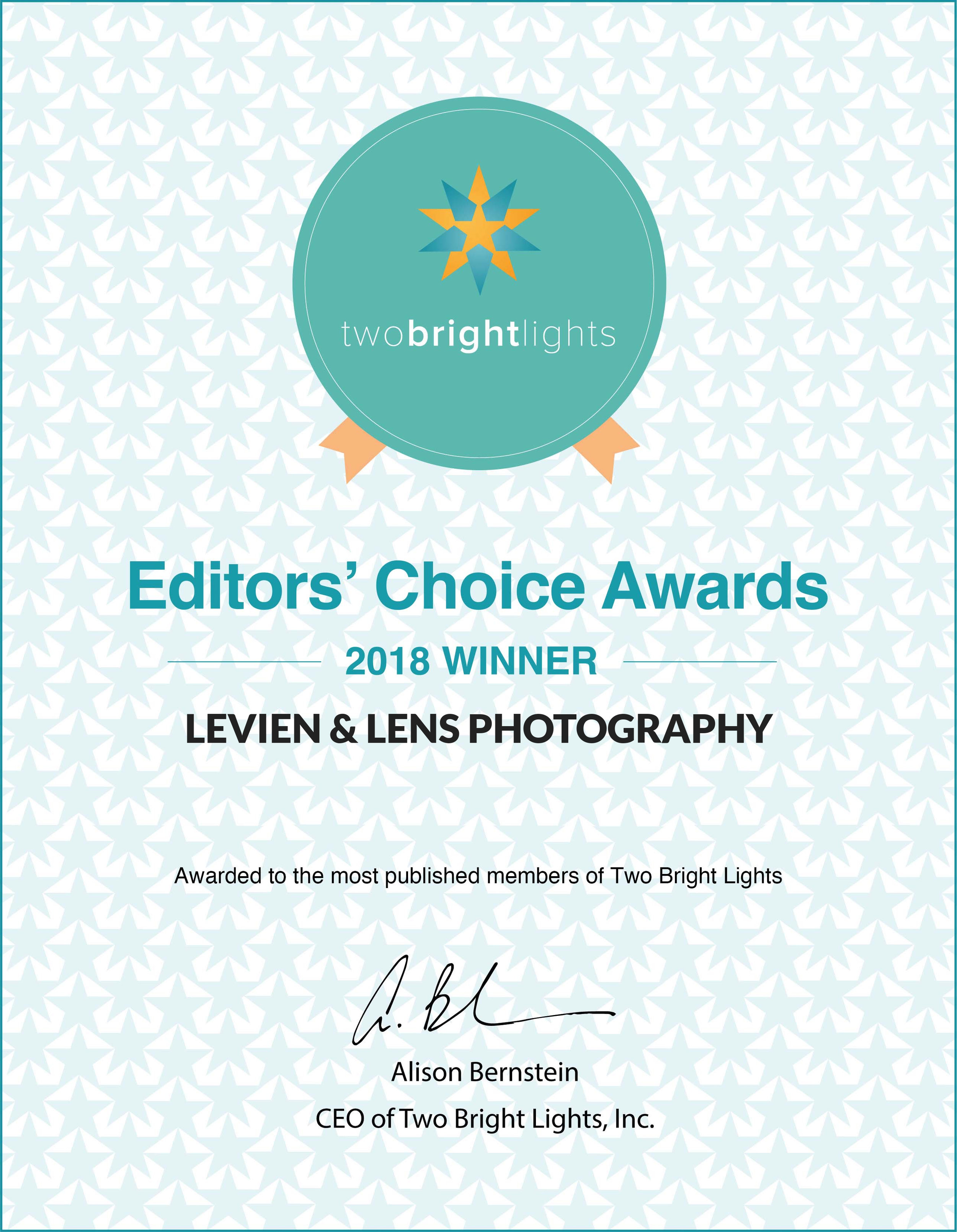 Editor's Choice 2018 Awards - Levien & Lens photography {L&L} - wedding photographers in Auckland New Zealand