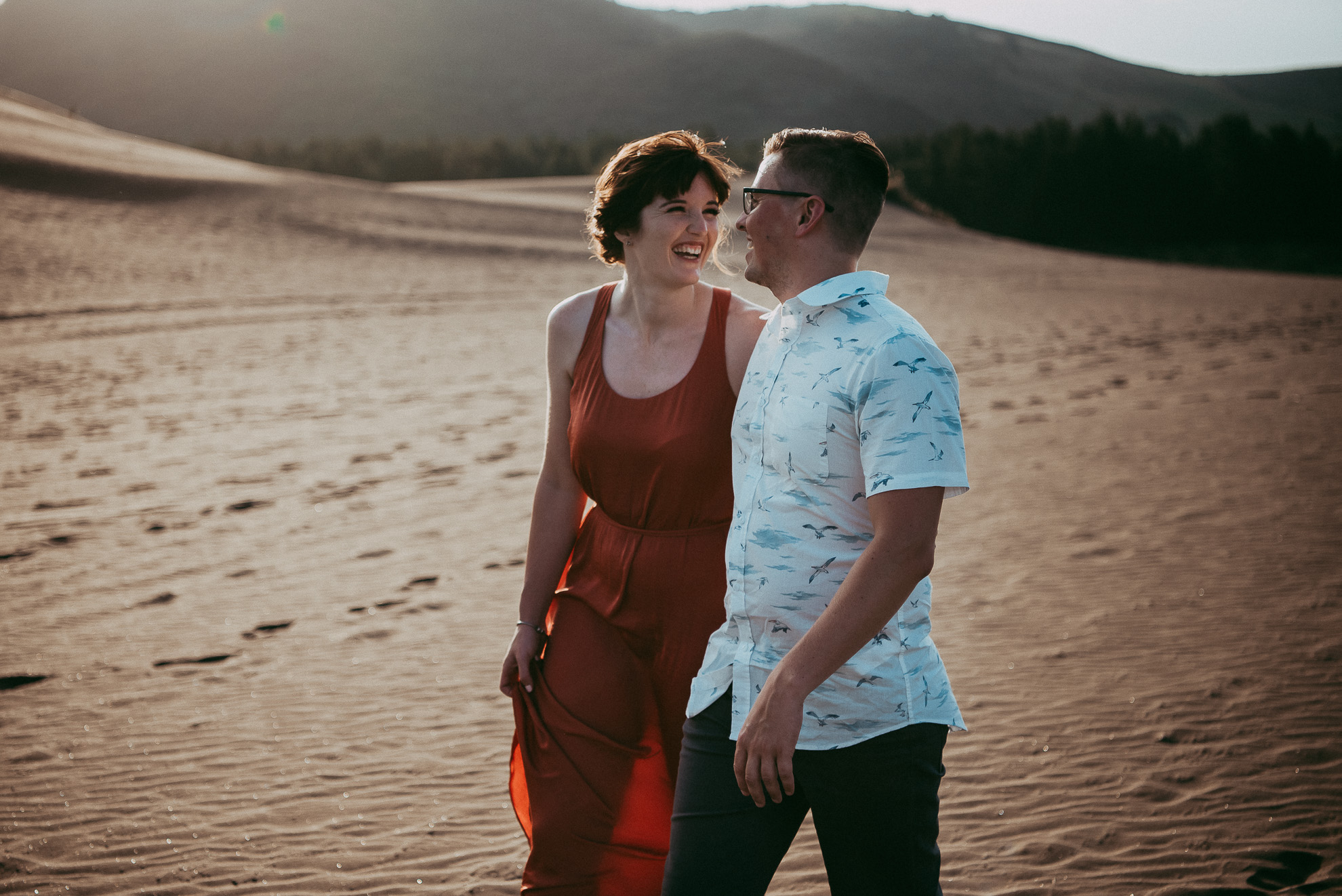 Bethells Lake {West Auckland} engagement | pre-wedding photo shoot {New Zealand weddings photographers} sunset beach