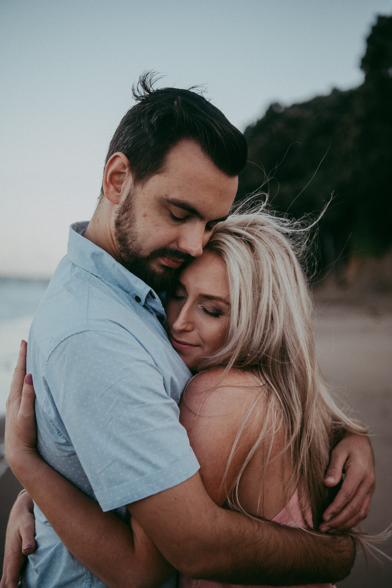 Campbells Bay engagement | pre-wedding photo shoot {North Auckland wedding photographer}