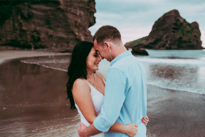 Piha - West Coast Beach engagement session published in How He Asked by the Knot {Auckland - New Zealand wedding photographer}