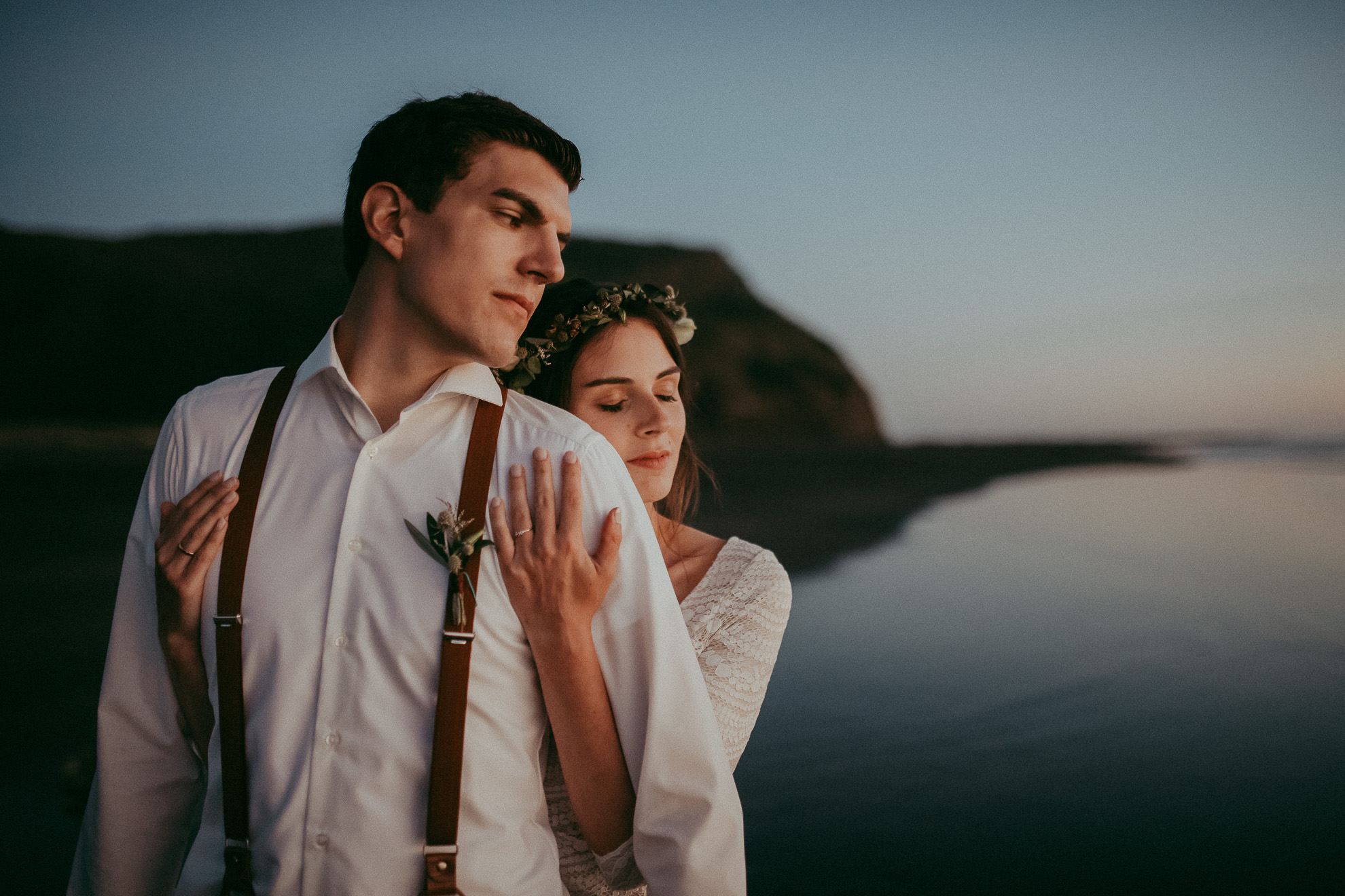 Mary & Philipp , surprised elopement on West Auckland beach