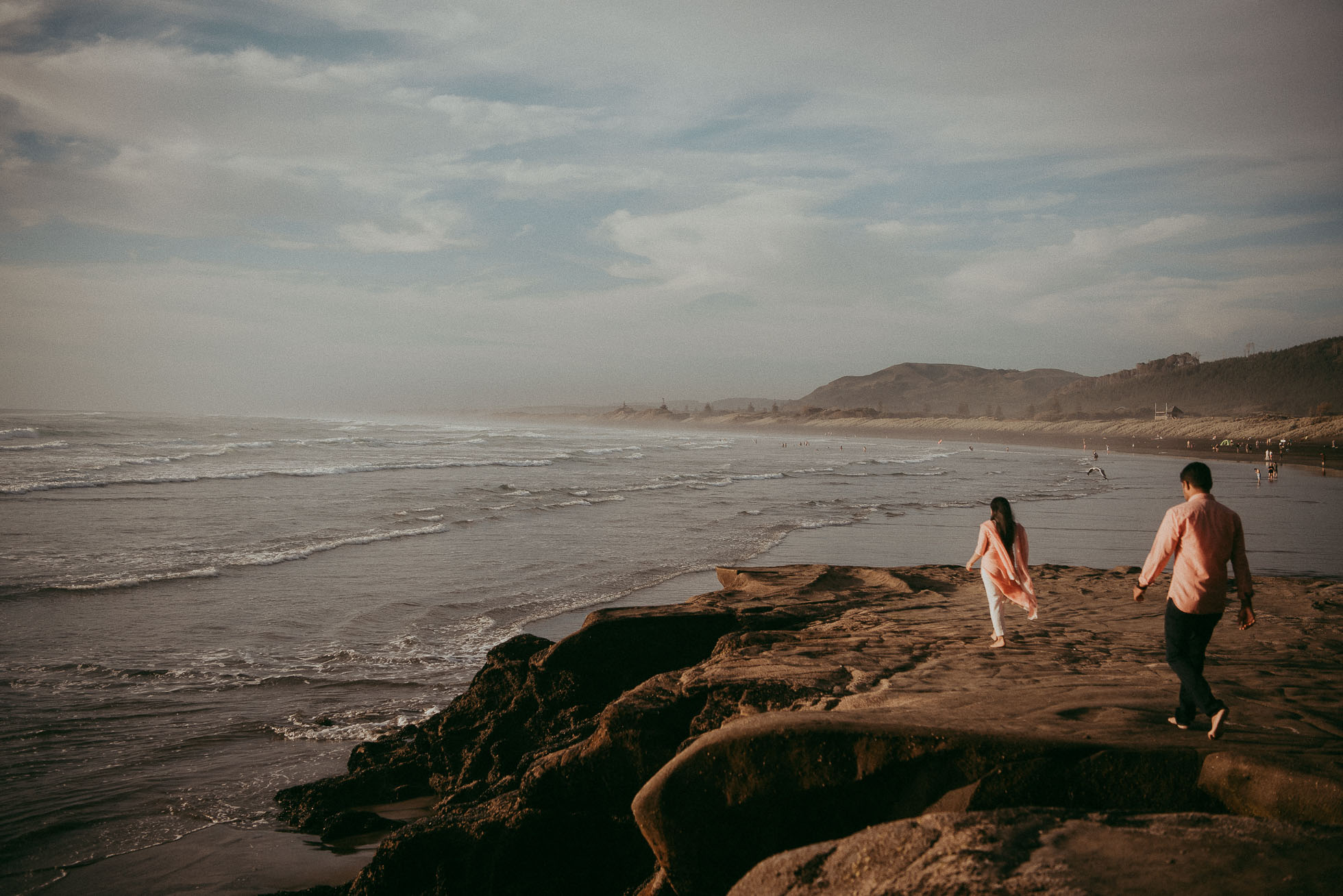 Muriwai Beach engagement session {Auckland wedding photographer}