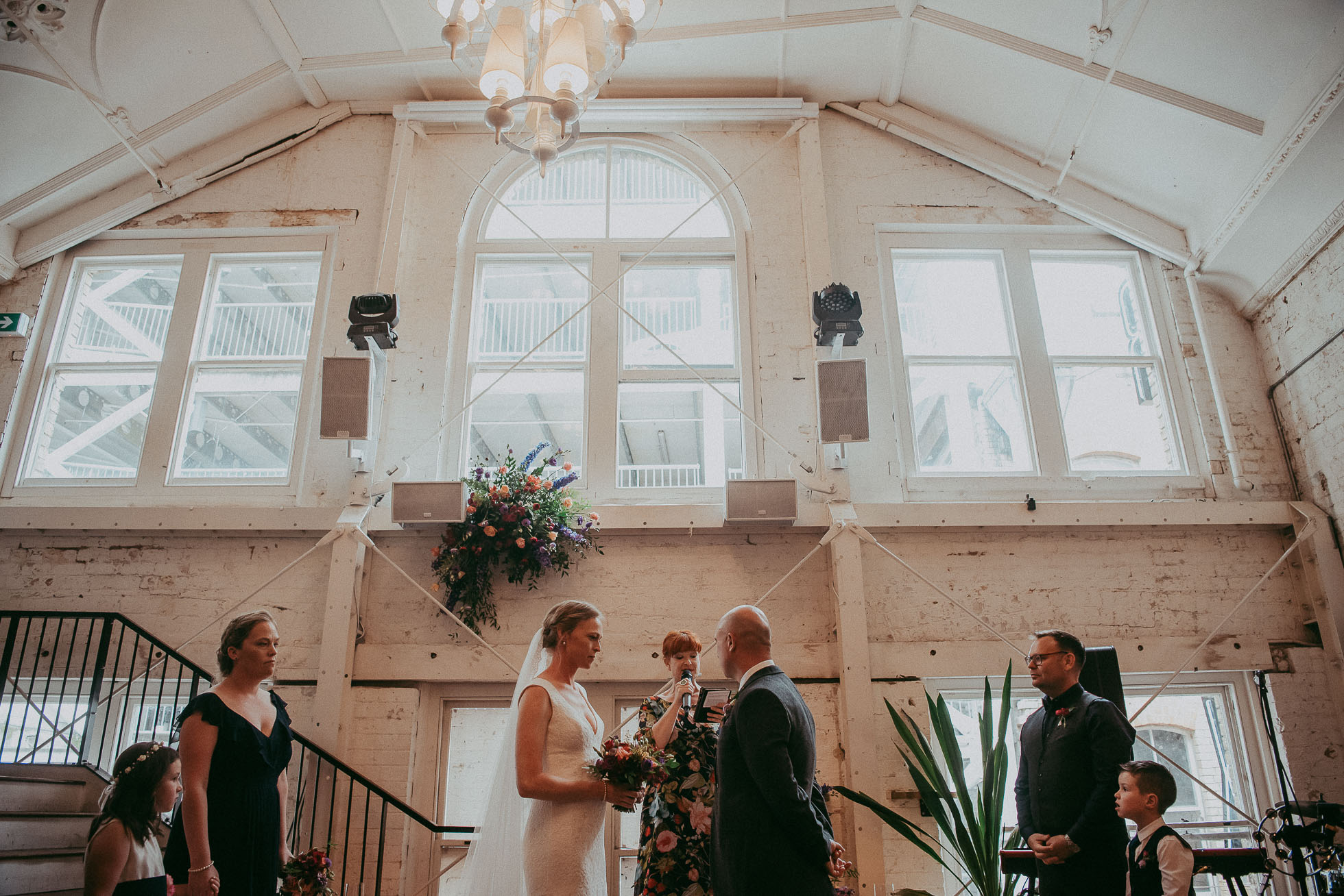 industrial venue - cafe Everybody's - Auckland City natural wedding photographer